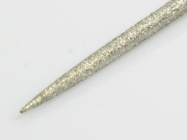 Diamond surfaced needle file